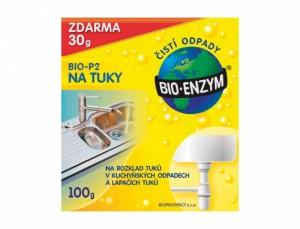 Bio Enzým P2 na tuky v potrubí, 100g