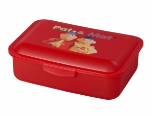 Box na svačinu PaM 16x12x5cm/střední-červený/potisk