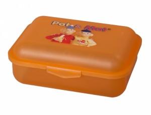 Box na svačinu PaM 18x14x7cm/vysoký-oranžový/potisk