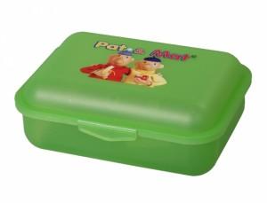 Box na svačinu PaM 18x14x7cm/vysoký-zelený/potisk