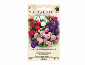 Astra nízka chryzantémokvětá Mix 180 semien