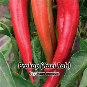 Paprika zeleninová - Prokop - Kozí roh (zelenina: Capsicum annuum) 0,6 g osiva papriky
