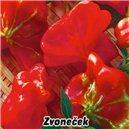 Papričky zvončekové-Zvonček - semená 0,2 g