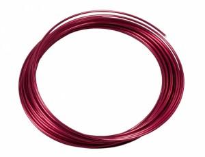 Drôt hliníkový dekoračný 10m / 2,0 mm / tm.červená
