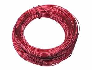 Drôt hliníkový dekoračný 60m / 2,0 mm / červený