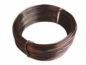 Drôt hliníkový dekoračný 60m / 2,0 mm / čokoládový