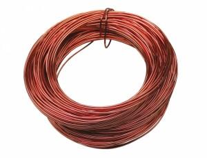 Drôt hliníkový dekoračný 60m / 2,0 mm / medený