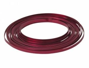 Drát hliníkový dekorační pl.10m/5,0mm/červený