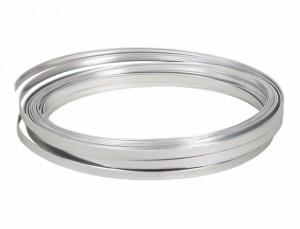 Drôt hliníkový dekoračné pl.10m / 5,0 mm / strieborný