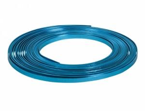 Drôt hliníkový dekoračné pl.10m / 5,0 mm / tyrkys.