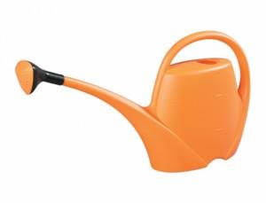 Konvička PAMELA 2,5l plastová s růžicí/oranžová/