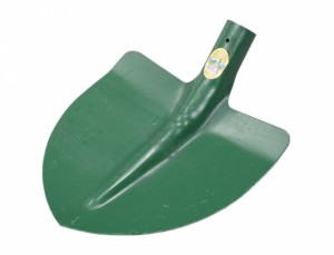 Lopata špičatá bez násady zelená