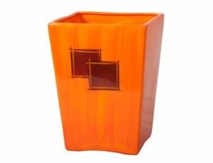 Kvetináč KUPKA SQUARE 20x20cm/oranžový lesk