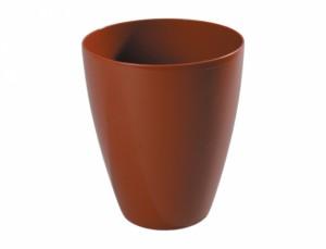 Obal na kvetináč ORCHIDEA COFFEE d14cm/plast