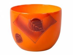 Obal PURKYNĚ LETTER d19cm/oranžový lesk