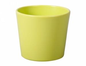 Květník SPARTA FIGARO d15cm/sv.zelený lesk/