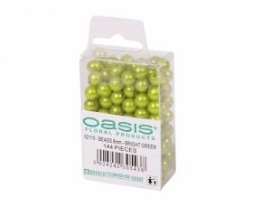 Perly dekoračné 144ks d8mm/sv.zelené