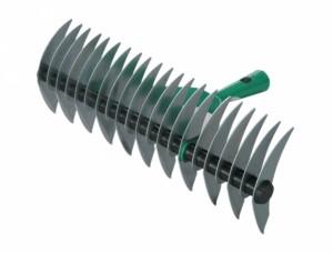 Obojstranné prevzdušňovacie hrable 21zubů 38cm zelené