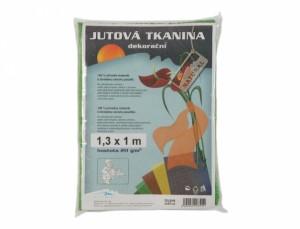 Tkanina dekorační 1.3x1m/juta/sv.zelená/