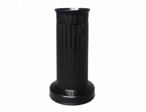 Váza hřbitovní SLOUP d12x22h/těžká/černá/