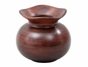 Váza O WOOD v14cm/tm.hnědá mat