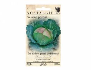 Zelí hlávkové pozdní krouhárenské Pourovo pozdní 200 semen