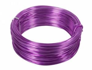 Drôt hliníkový dekoračný 60m / 2,0 mm / levanduľový