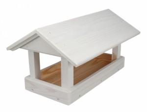 Krmítko dřevěné č.16 bílé