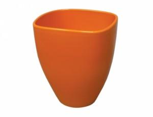 Kvetník miltonia FRUIT 14x14cm/oranžová lesk /