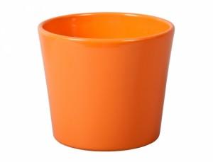 Květník SPARTA FIGARO d13cm/oranžový lesk/