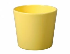 Květník SPARTA FIGARO d17cm/žlutý lesk/