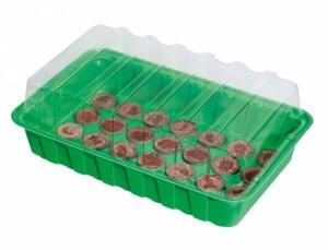 Minipařeniště š.36x22x13cm/+28 rašelinový tablety