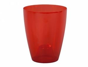 Obal ORCHIDEA LAKY EXTRA d12cm/plast/červená