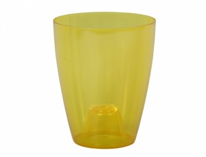 Obal ORCHIDEA LAKY EXTRA d12cm/plast/žlutá