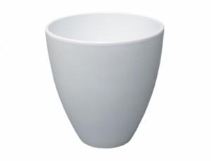 Květník ISABELIA ROSATO d14cm/bílá lesk/