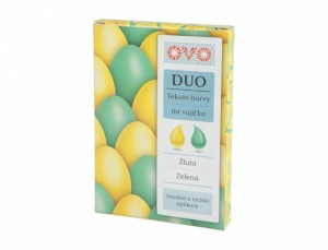 OVO barva na vajíčka DUO 2x20ml/zelená - žlutá