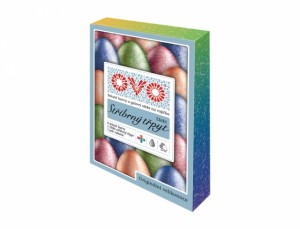 OVO barva na vajíčka TŘPYT 4barvy+5ml+rukavice
