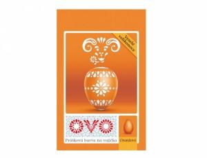 OVO barva na vajíčka/prášek/oranžová