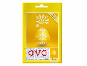 OVO farba na vajíčka / prášok / žltá