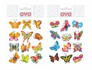 OVO obtlačky glitr motýle