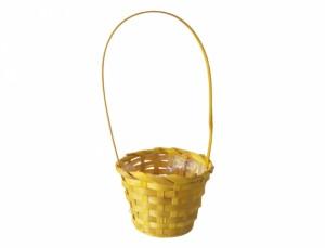 Košík s uchem d11cm/žlutý
