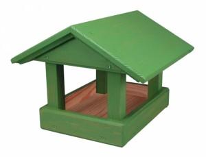 Krmítko dřevěné č.13 zelené