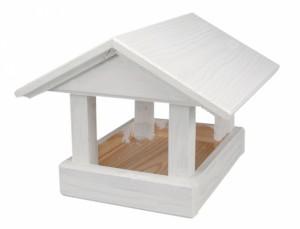 Krmítko dřevěné č.17 bílé