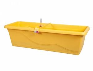 Truhlík samozavlažovací EXTRA LINE SMART 80cm/žlutý/