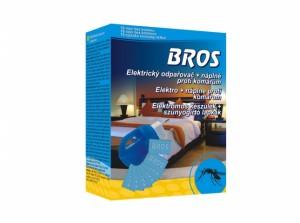 BROS-elektrický odpařovač proti komárům/+polštářky/10ks
