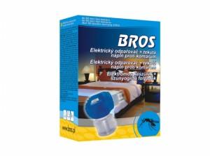 BROS-elektrický odpařovač proti komárům+tekutá náplň/60nocí/