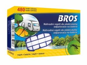 BROS-náhradní náplň do elektrický odpařovač /na bat/vklad+baterie/
