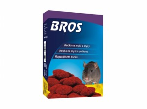 BROS-parafínové bloky na myši,krysy a potkany 100g