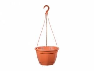 Květináč závěsný s podmiskou OCTO d25x17h/4,7