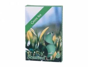 Čajová sviečka s vôňou 6ks (zelený čaj)